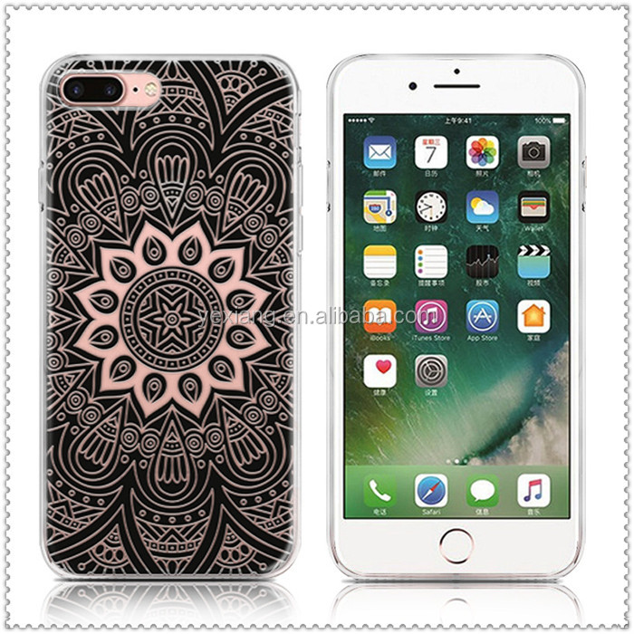 very hot 2017 mandala design tpu case for iphone 7 7 plus custom printing cover case