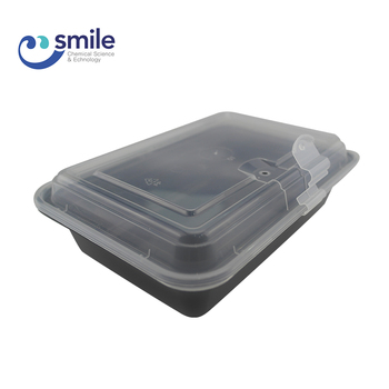 Upscale Rectangular Plastic School Kids Lunch Bento Box Food Containers With Attached Lids