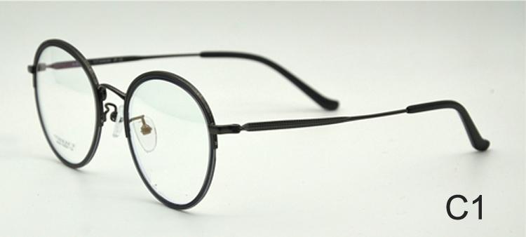 Btha — lunettes de vue en titane pour hommes, verres optiques ronds, vente en gros, 2019