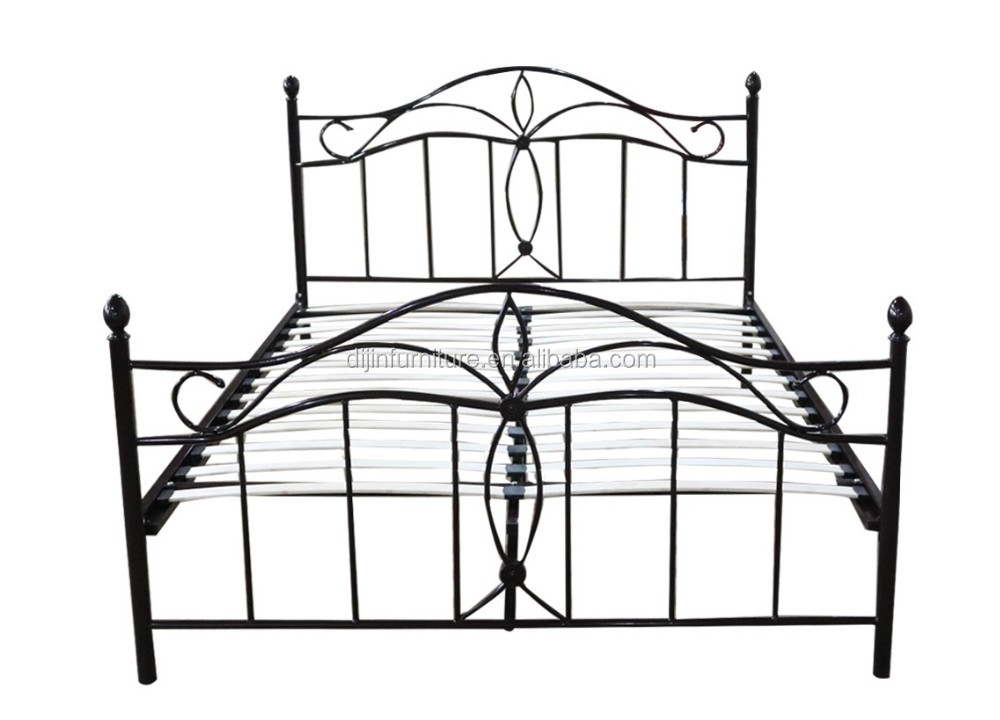 King Size Bed Dimensions White Platform Modern Metal Pipe Bed Frame