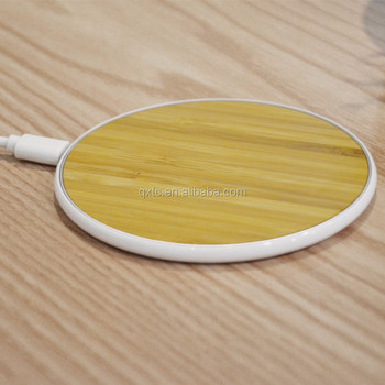 Bamboo Gift Wireless Charger Company Wireless Qi Charger For Galaxy for iphone8/plus/X