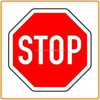 High Bright Aluminum Solar Powered LED Flashing Led Stop Sign
