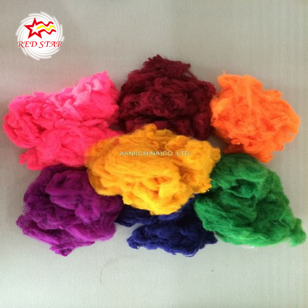 Recycled dope dyed Polyester fiber PET fiber regenerated PSF polyester staple fiber with high quality