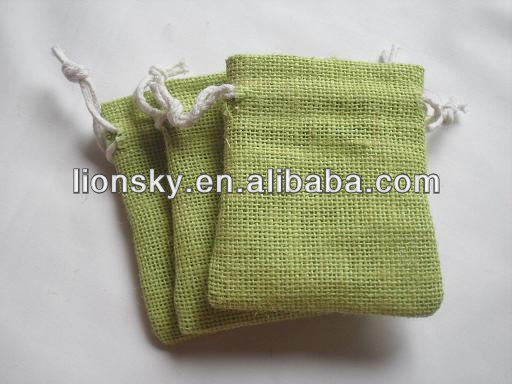 natural eco jewelry burlap pouch jute pouch with logo printing