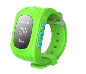 Generic Mini GPS Tracker Watch For Child SOS Emergency Anti Lost GSM Smart Mobile Phone App Bracelet Wristband Alarm and Tracking With 2 Way Communication Locating Fast(Green)