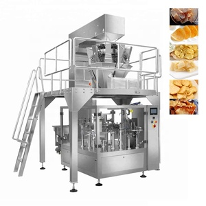 Rotary Premade Pouch Nitrogen Potato Chips Packaging Machine