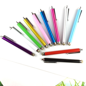 2016 new 11 Colors High Quality Conductive Fiber Cloth Stylus touch screen Pen For iPhone 6 6S 5 4GS iPad 2 iPod Touch Phone