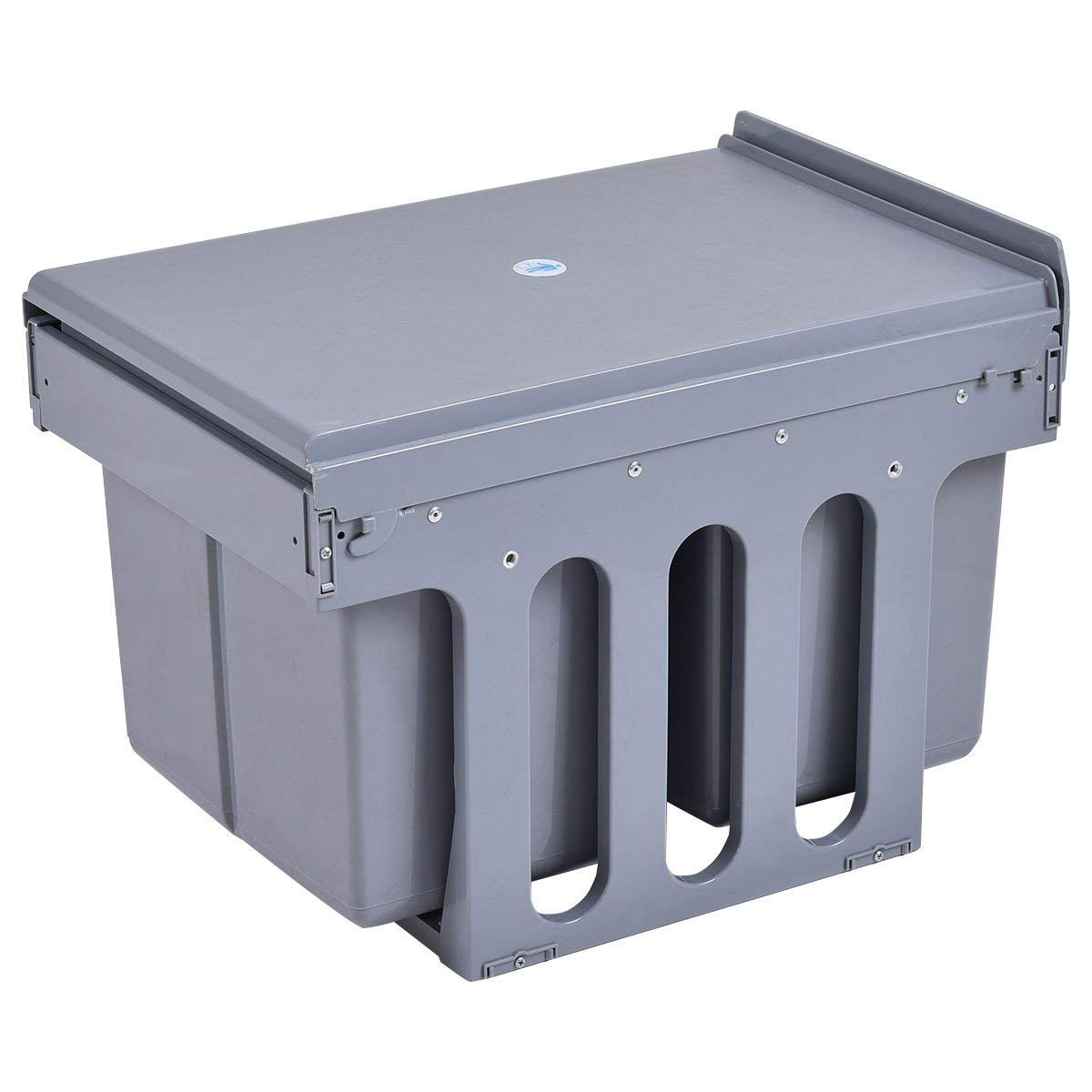 MD Group Waste Bin Recycling Trash Kitchen 2 Compartment Pull Out Garbage Can