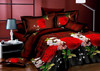 russian style euro size 100% bamboo fiber pigment printing 4d bedding set