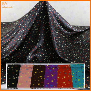 Little stars print material soft satin printed fabrics Dress Lining