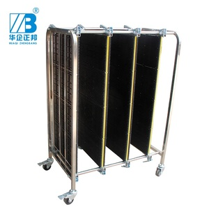 ESD Stainless Steel Trolley / ESD Turnover Cart / Antistatic PCB Plates Storage Trolley ZB-900J