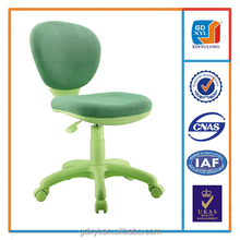Medium Spring Green Mesh Swivel Office Children Chair without Armrest
