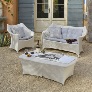 Morden chair designed outdoor garden rattan set with swing backrest and low coffee table contemporary sofa