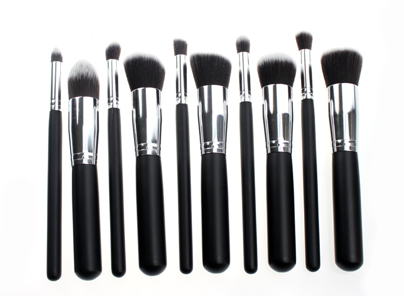 5b691f3ac75a 10pcs Private Label Make Up Brushes Makeup Brush Set With Blue Metal Colors  - Buy High Quality Make Up Brush,Make Up Brushes Makeup Brush Set,Private  ...