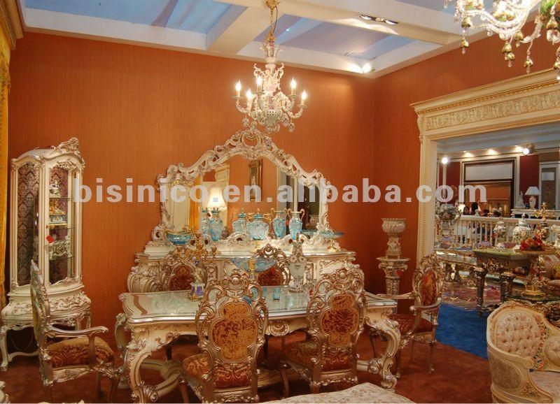 Casa de lujo europeo muebles de comedor mesa comedor for Muebles de sala tallados en madera
