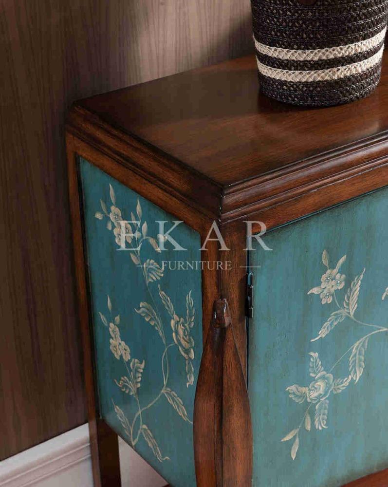 Hand Verf Massief Houten Meubels Verf Vintage Kast In Blauw-houten ...