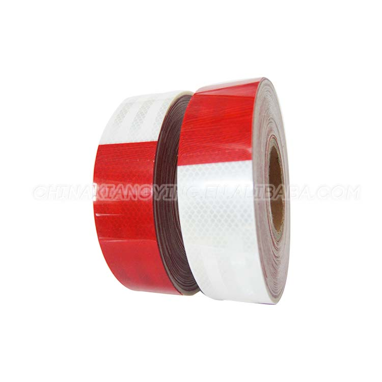 Hot Sale Best Quality PVC/PET Self Adhesive White And Orange Reflective Film