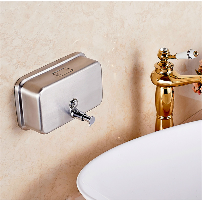 1200ML Stainless Steel Hotel Soap/Shampoo Dispenser Wall Mounted