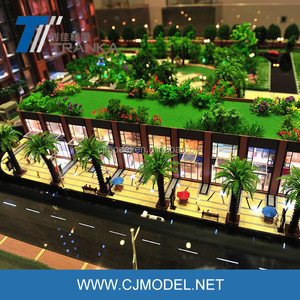 High end architect model building with landscape mater planning , scale models architecture