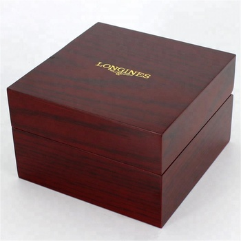 Customized Logo And Size Luxury Wooden Watch Box Wooden Watch Box With Pillow