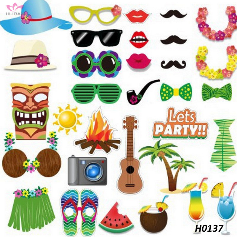 Decorations Photo Booth Props Hawaii LUAU Party Supplies