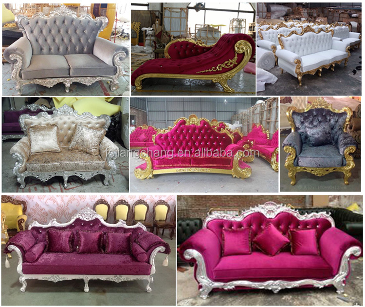 French Romantic Style Luxury Sofa/Fabric Furniture With High Quality For Wedding Event