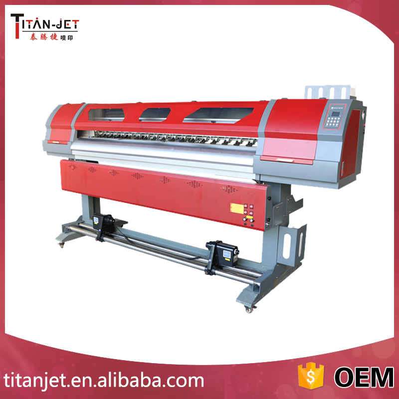 Titanjet 1.8m heat transfer sublimation printer with 5113