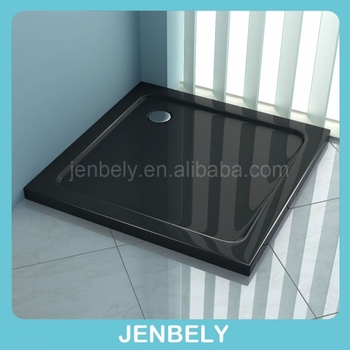 Black Square ABS Shower Pan