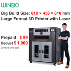 Multi-funtional 3D Printer Large format 3d printer Fast Speed 3d printer with Wi-Fi,7in screen