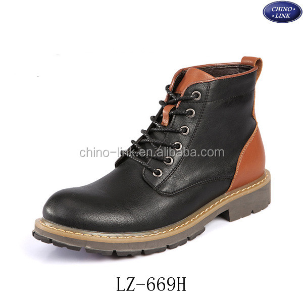 2015 hot sale winter men genuine leather boots
