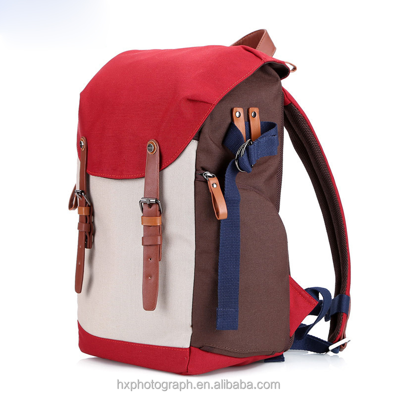 China Supplier Canvas Photo DSLR Camera Backpack for Teenage Girls