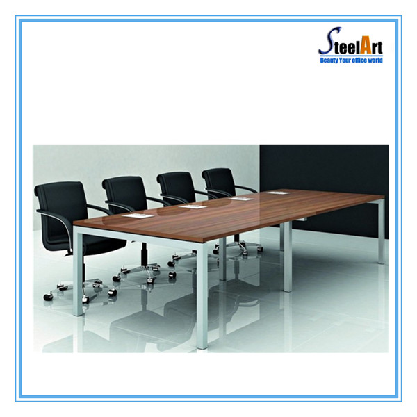 Metal Frame With Mdf Desktop Office Meeting Room Table