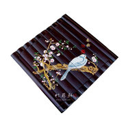 antique Chinease bamboo painting handicraft