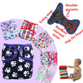 1PC Reusable Waterproof One Size Pocket Cloth Diaper Nappy Baby Minky Printed PULOutside Bamboo Charcoal Inner