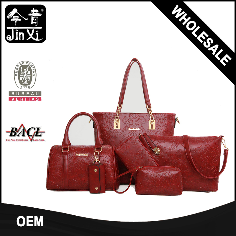 New Arrival Multifunction Retro Printing bed in a bag sets Ladies Handbag