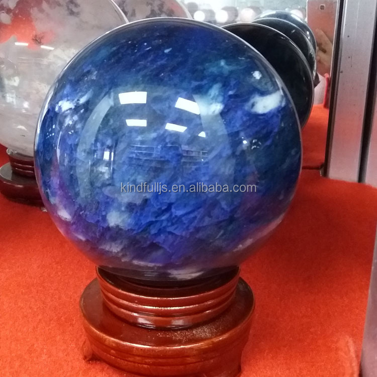 large blue melting crystal spheres/ quartz balls