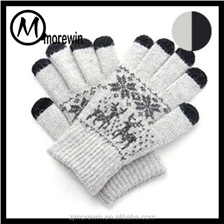 Morewin gloves Amazon supplier custom knitted touch screen gloves winter women soft gloves for cell phone
