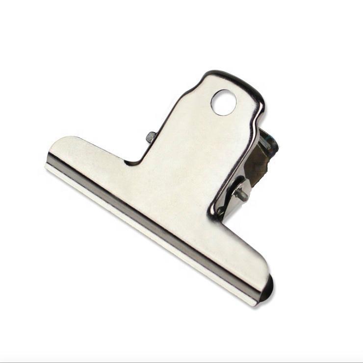 Custom kantoorbenodigdheden metalen lente clips custom logo metalen bulldog bindmiddel clips