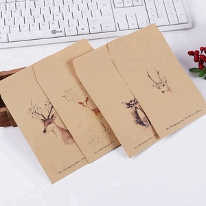 Kraft printed patterned envelopes gift card custom-sized envelope
