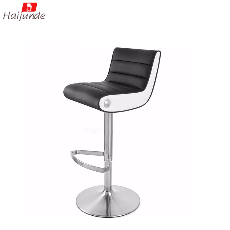 Square Replacement Bar Stool Seats Modern Black And White Color Tall Height Upholstered Chairs For Breakfast Metal Adjule