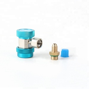 blue color Adjustable brass refrigeration quick coupler connector for air conditioner