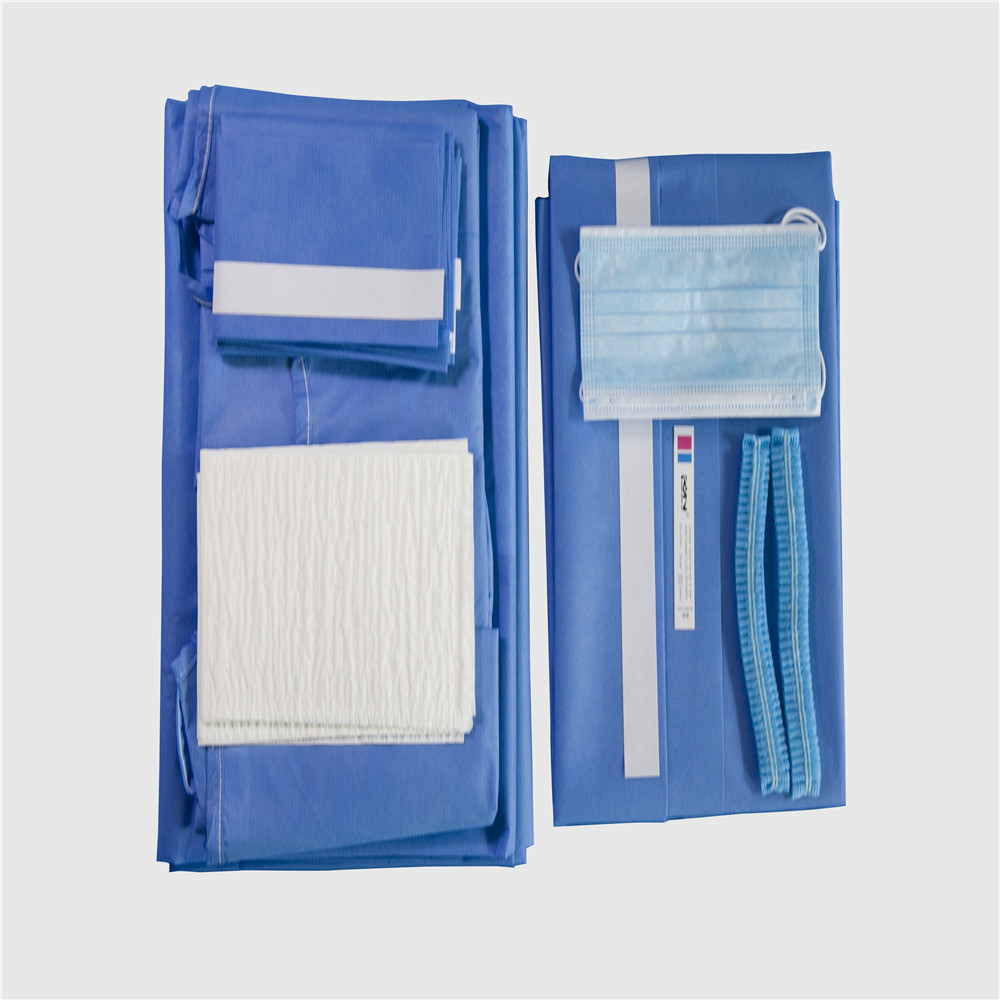 Hospital use sterile medical surgical pack disposable surgical general adhesive drape