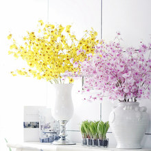 Realista artificial dancing lady orchid orchid flores artificiales decorativas