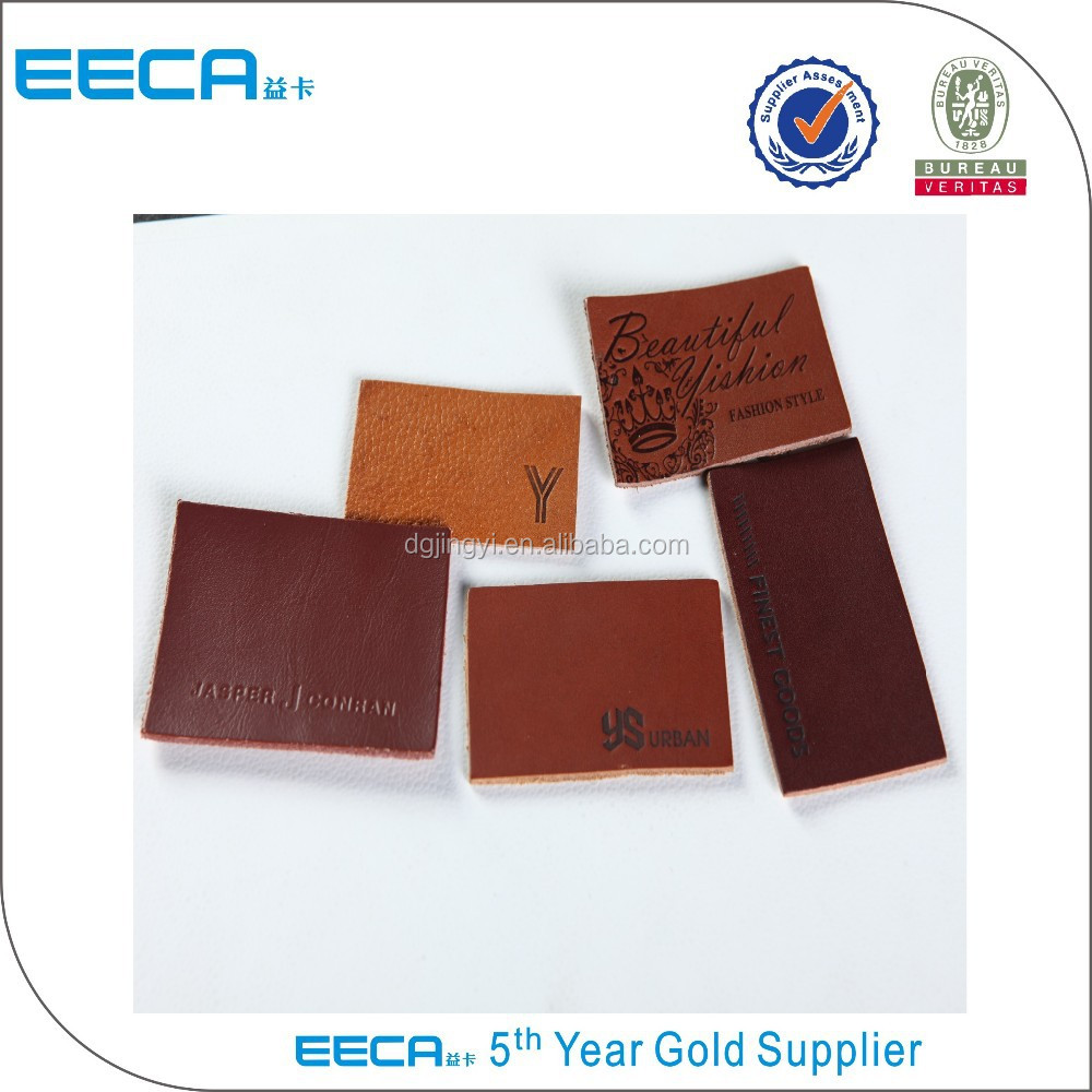 wholesale leather fabric garment tag made in Dongguan
