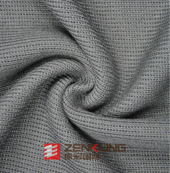 knitted 100% Polyester Rib fabric for winter garment anti bacteria