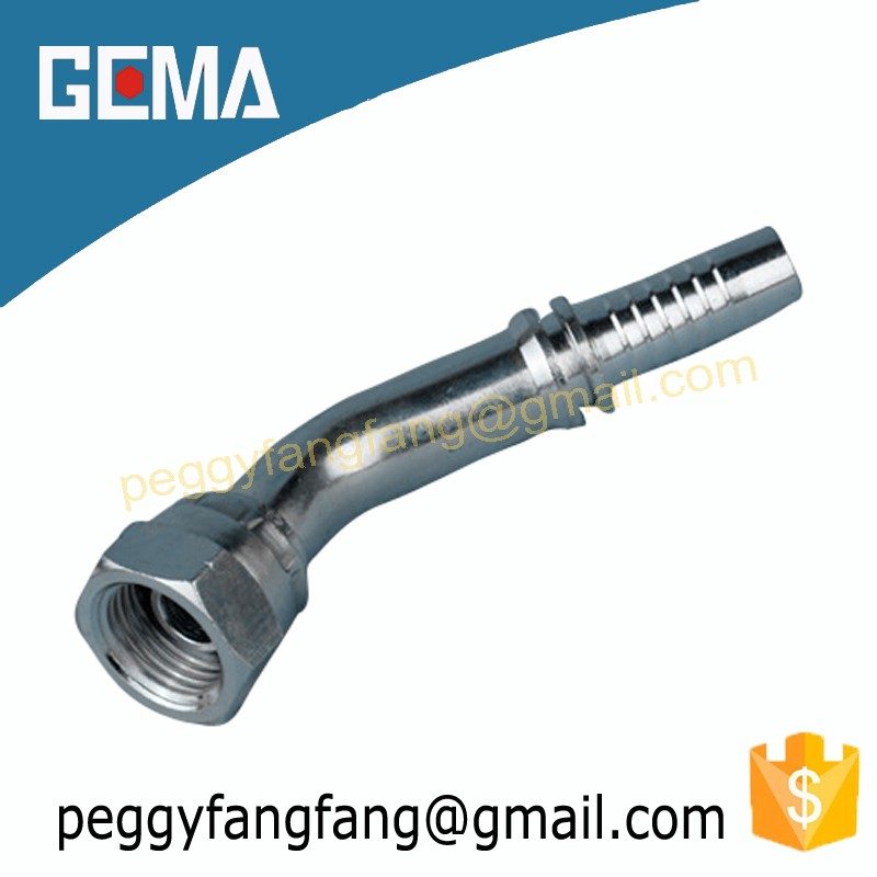22641DKR 45 Degree BSP female 60 degree cone hydraulic rubber hose and fittings zhuji supplier tube fittings