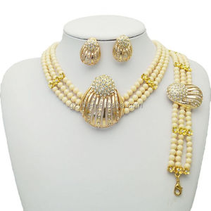 rani haar pearls coral bead jewelry set/ Indian fantasy jewelry set