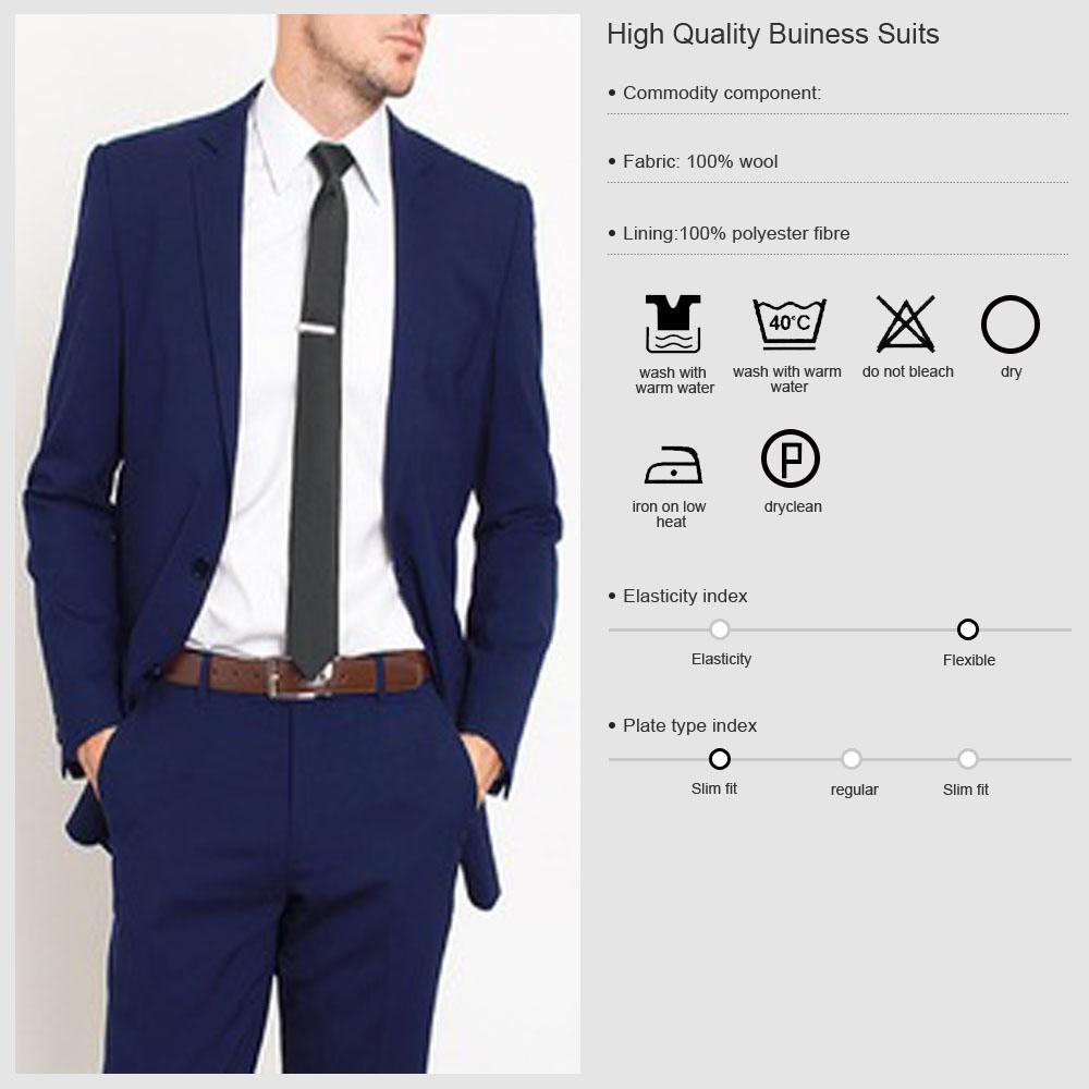 2016 New Design Slim Fit Mens Suits Office Staff Uniform ...