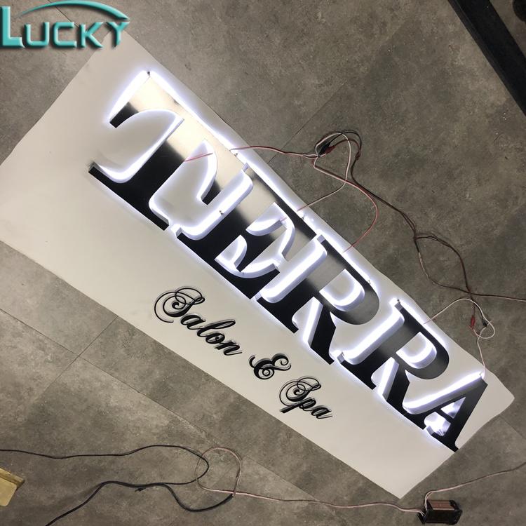 Mooie Alfabet Letters Led Backlit Logo als Custom 3D Bedrijfslogo