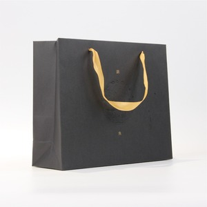 Competitive Price Elegant Custom Brand Logo Luxury Boutique Shopping Paper Gift Bags With Ribbon Handles